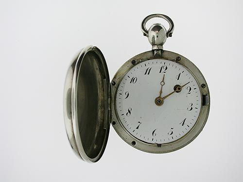 Rare Silver Full Hunter Pocket Watch Swiss 1820 (1 of 1)