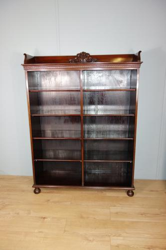Victorian Double Section Open Mahogany Bookcase (1 of 11)