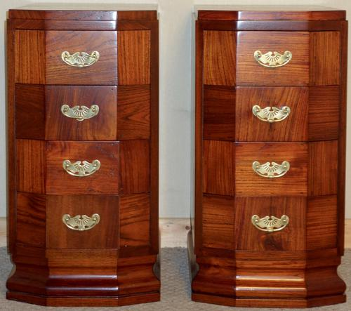 Pair of Fine Quality Teak Bedside Chest of Drawers c.1930 (1 of 1)