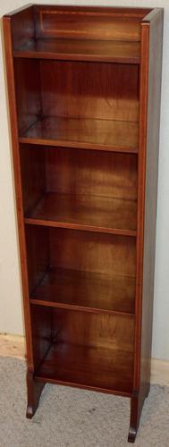 Small & Narrow Liberty & Co. London Mahogany Open Bookcase (1 of 1)