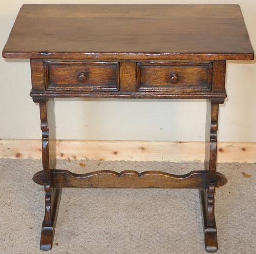 Distressed Ipswich Oak Hall Table (1 of 1)