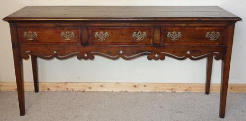 Reproduction Oak Dresser Base with Fruitwood (1 of 1)