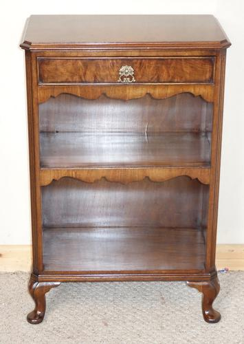 Small Walnut Bookcase by Maple & Co. c.1950 (1 of 1)