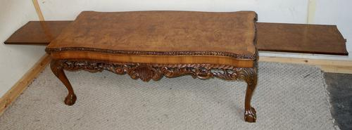 Finest Quality Longjohn Carved Walnut Coffee Table with Slides (1 of 1)