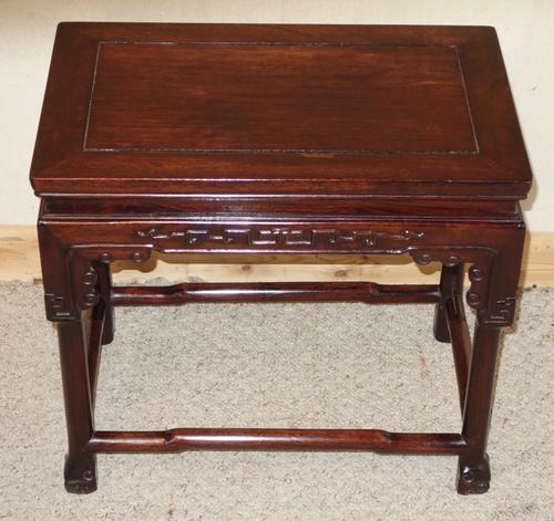 Small Chinese Hardwood Coffee Opium Side Table (1 of 1)