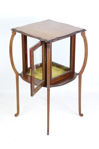Edwardian Arts & Crafts Mahogany Bijouterie Display Cabinet (1 of 13)