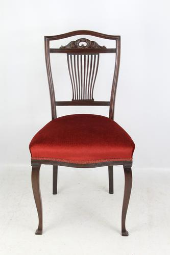 Antique Edwardian Mahogany Dressing Table Chair (1 of 12)