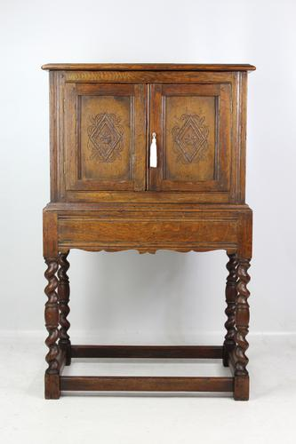 Edwardian Oak Cabinet in 17th Century Style c.1910 (1 of 13)