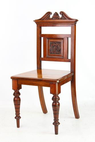 Late Victorian Walnut Hall Chair (1 of 13)