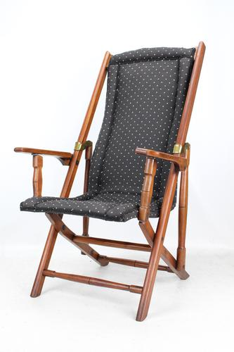 Edwardian Folding Steamer Chair / Campaign Chair (1 of 13)