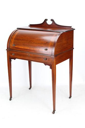 Edwardian Mahogany Cylinder Top Desk / Writing Bureau (1 of 14)