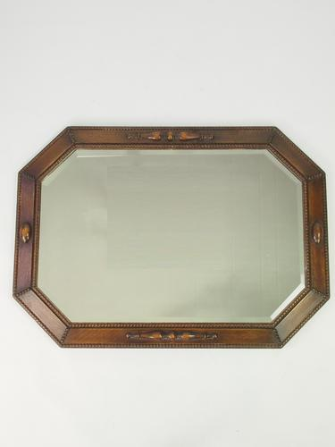 Large Oak Framed Mirror / Overmantle Mirror 1920s-1930 (1 of 1)