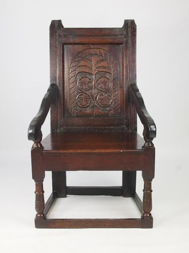 Oak Wainscot Chair, 17th Century & Later (1 of 1)