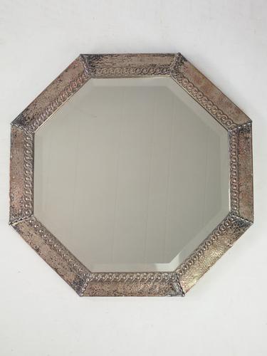 Hexagonal Metal Framed Wall Mirror (1 of 1)