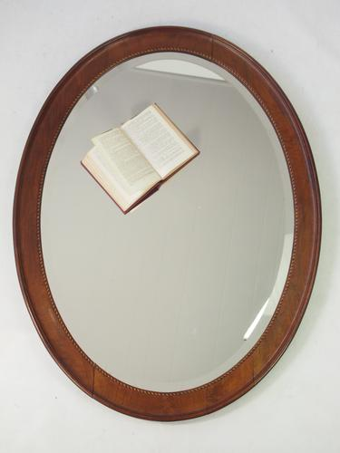 Large Antique Edwardian Oval Mirror (1 of 1)