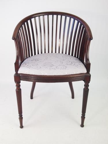 Antique Edwardian Mahogany Tub Chair c.1905 (1 of 1)