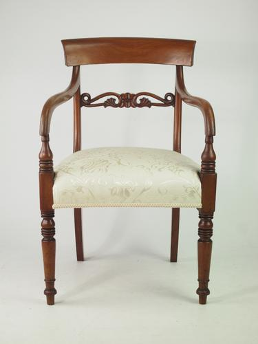 Antique Victorian Mahogany Desk Chair / Open Armchair (1 of 1)