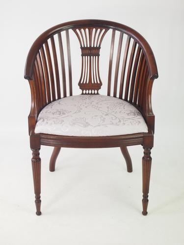 Antique Edwardian Mahogany Tub Chair c.1910 (1 of 1)