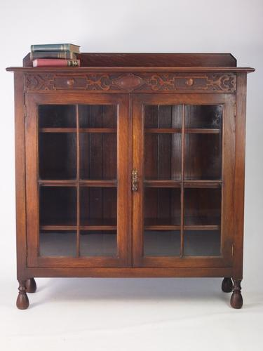 Antique Edwardian Oak Bookcase (1 of 1)