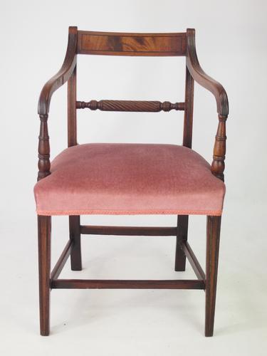 Antique Regecny Open Armchair / Desk Chair (1 of 1)