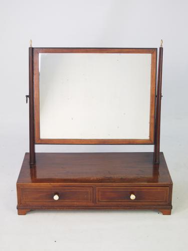 Antique Regency Toilet Mirror / Vanity Mirror (1 of 1)