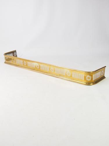 Victorian Arts & Crafts Pierced Brass Fire Fender c.1890 (1 of 1)