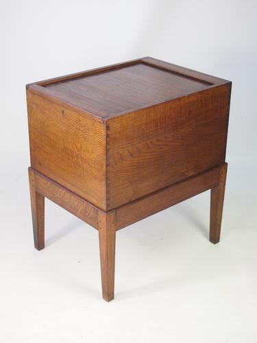 Oak Tambour Top Filing Cabinet (1 of 1)