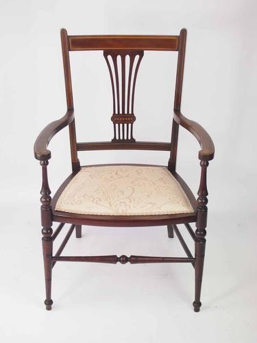 Small Edwardian Open Armchair or Bedroom Chair (1 of 1)