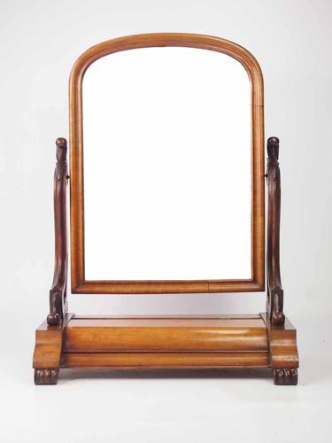 Victorian Mahogany Dressing Table Mirror or Toilet Mirror (1 of 1)