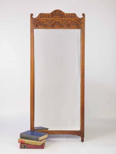 Tall Oak Bedroom Mirror or Hall Mirror (1 of 1)