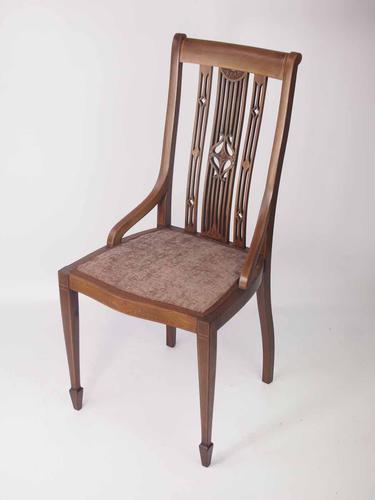 Edwardian Mahogany & Inlaid Desk Chair (1 of 1)