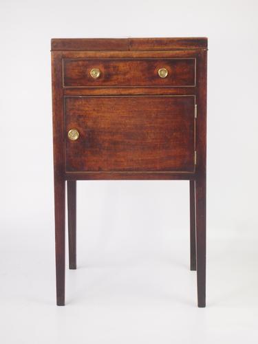 George III Mahogany Bedside Cabinet (1 of 1)