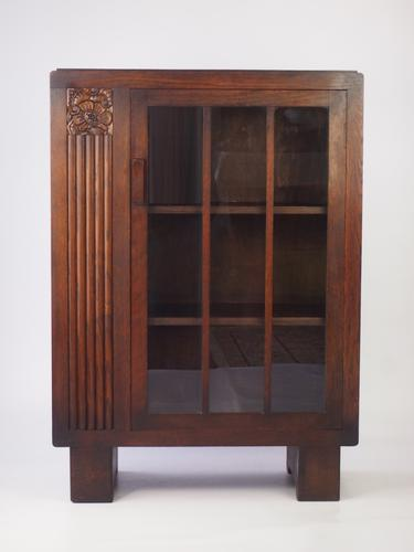 Small Art Deco Oak Bookcase c.1930 (1 of 1)
