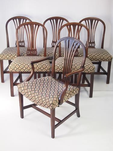 Set of 6 Antique Georgian Mahogany Dining Chairs (1 of 1)