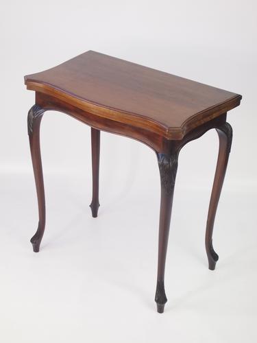 Edwardian Mahogany Card Table or Writing Table (1 of 1)