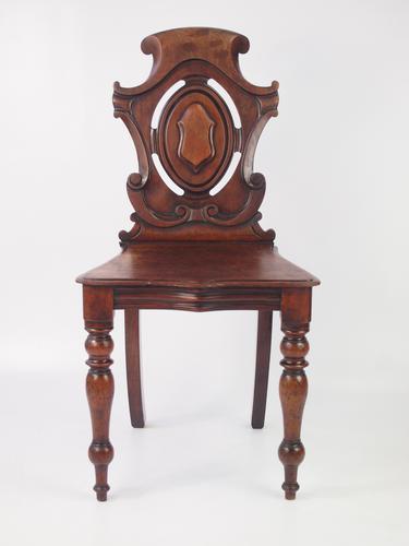 Victorian Mahogany Shield Back Hall Chair (1 of 1)