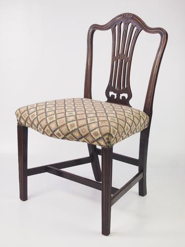 Georgian Mahogany Side Chair / Bedroom Chair (1 of 1)