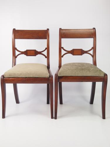 Pair of Antique Regency Mahogany Chairs (1 of 1)