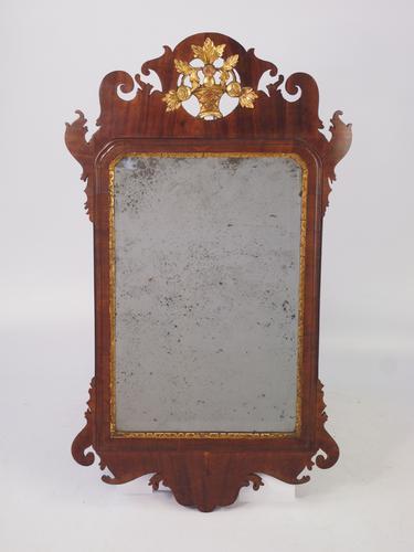 Georgian Period Mahogany Fretwork Chippendale Mirror (1 of 1)
