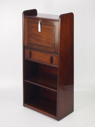 Slim Art Deco Mahogany Bureau (1 of 1)