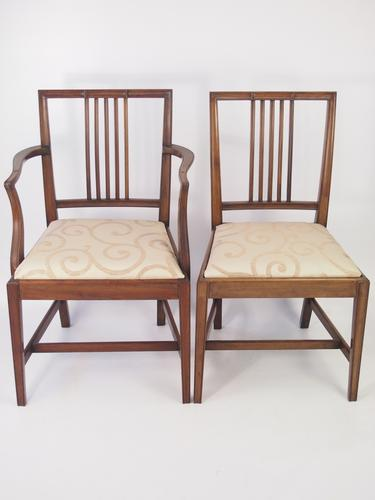 Pair of Antique Edwardian Mahogany Chairs (1 of 1)