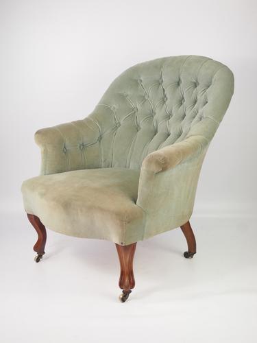 Victorian Button Back Armchair by John Taylor & Sons Edinburgh (1 of 1)