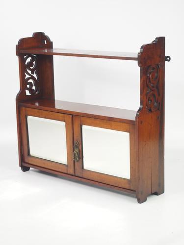 Victorian Walnut Hanging Cabinet (1 of 1)