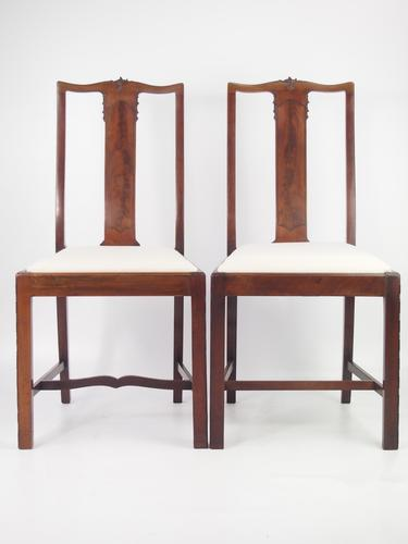 Pair of Antique Edwardian Mahogany Side Chairs (1 of 1)