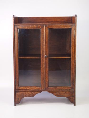Small Antique Edwardian Oak Bookcase (1 of 1)