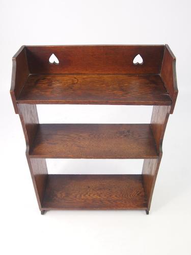 Small Edwardian Arts & Crafts Oak Hanging Wall Shelves (1 of 1)