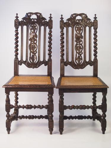 Pair of Victorian Gothic Revival Oak Chairs (1 of 1)