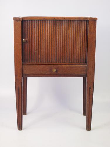 Antique 18th Century Dutch Oak Bedside Cupboard (1 of 1)
