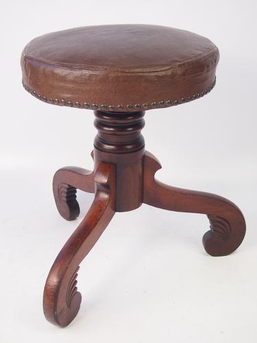 Antique Mahogany Rise & Fall Piano Stool (1 of 1)