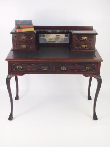 Antique Victorian Mahogany Desk (1 of 1)